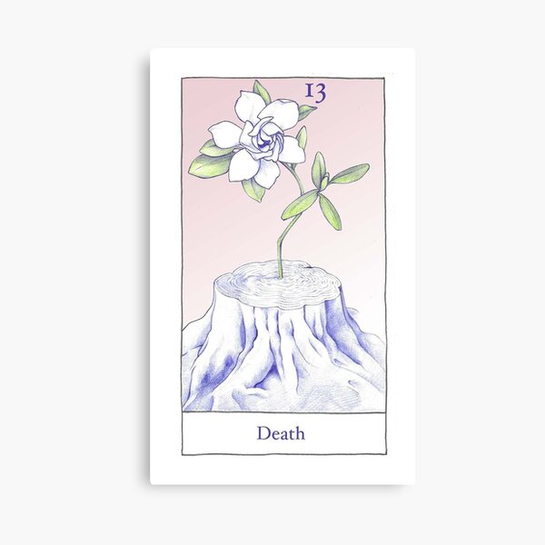 The Death Card from the BirdQueen Tarot Canvas Print