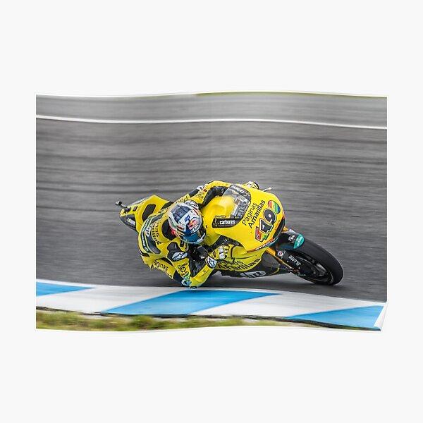 Maverick Vinales Champion Moto2 Racer Poster