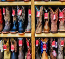 Cowboy Bootery - Fort Worth Stockyards Texas USA Sticker