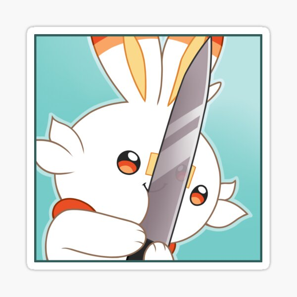 A KNIFE! Sticker