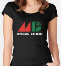 Mega Dude Women's Fitted Scoop T-Shirt