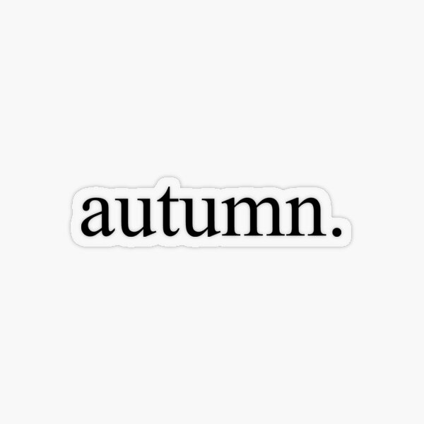 Autumn Transparent Sticker