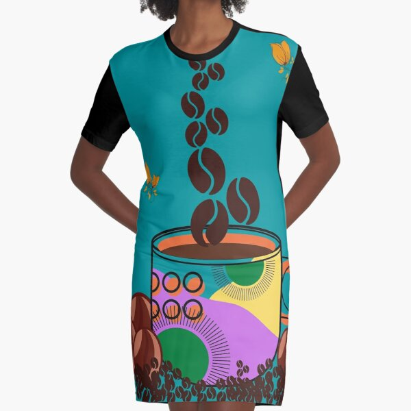 TAZA DE CAFÉ EN GRANOS BLISS Vestido camiseta