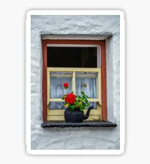 Traditional Cottage Window - Bunratty - County Clare - Ireland Sticker