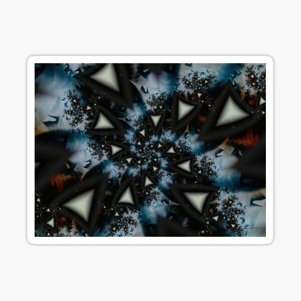 Blue White Triangle Spiral Sticker