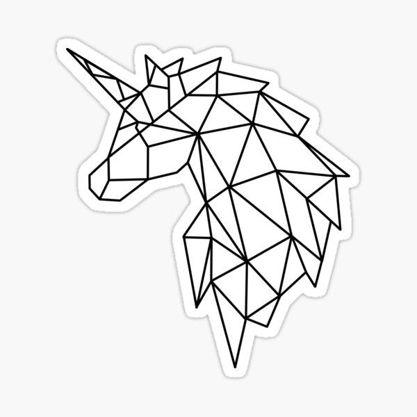 Geometric unicorn Sticker