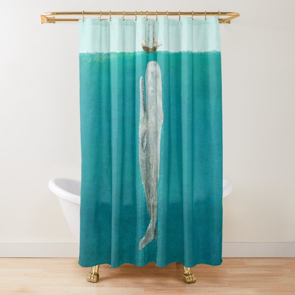 The Whale - Full Length  Shower Curtain