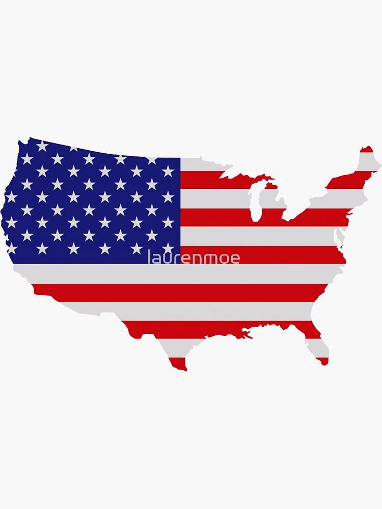 American Flag USA Map by laurenmoe