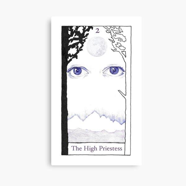 The High Priestess from The BirdQueen Tarot Canvas Print
