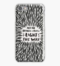 Bridges I Burn – Black Burst iPhone Case/Skin