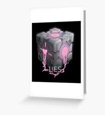 Lies. Greeting Card