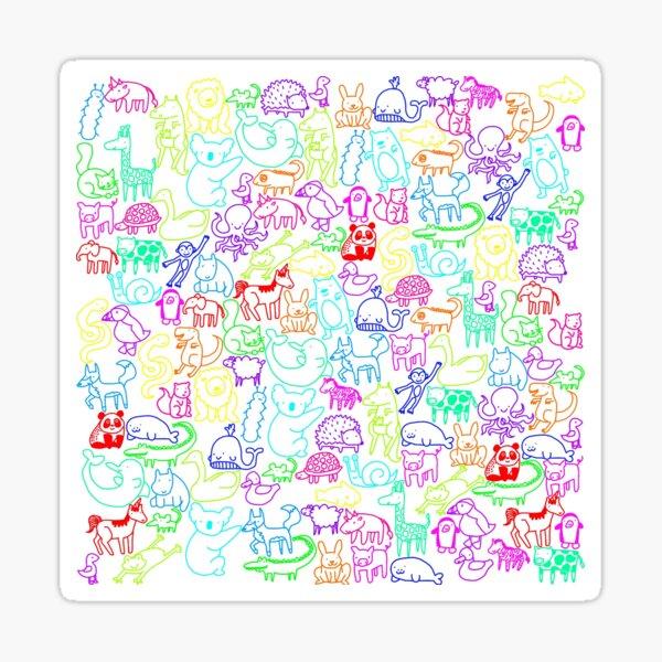 Animal Parade Sticker