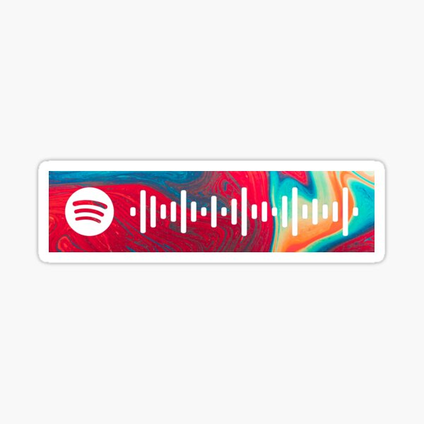 Borderline by Tame Impala Spotify Scan Code Sticker