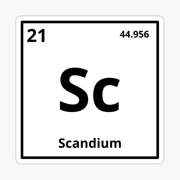 Element Scandium Sticker