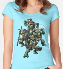 Turtle Power (textless) Women's Fitted Scoop T-Shirt