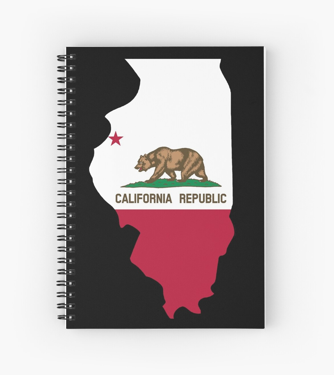 California Flag Illinois Outline By Artisticattitud