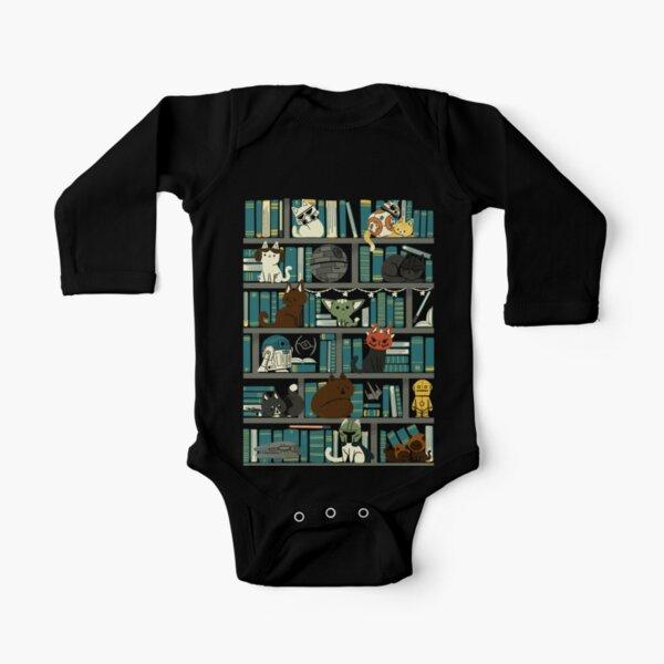 Library Kitten Wars Long Sleeve Baby One-Piece