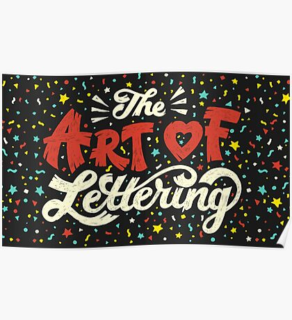 The Art of Lettering Poster