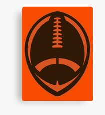 Vector Football - Brown Canvas Print