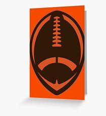 Vector Football - Brown Greeting Card