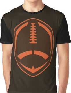 Vector Football - Brown Graphic T-Shirt
