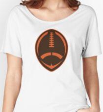 Vector Football - Brown Women's Relaxed Fit T-Shirt