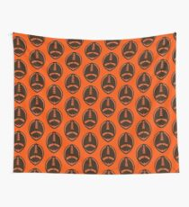 Vector Football - Brown Wall Tapestry