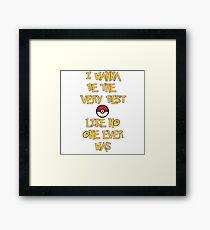 Pokemon Theme Framed Print