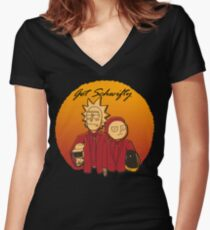 Get Schwifty (Daft Vers.) Women's Fitted V-Neck T-Shirt
