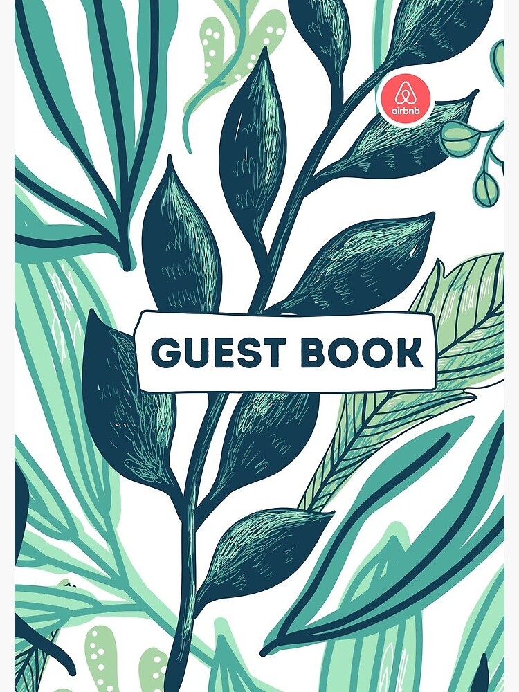 Airbnb Guest book with Jungle backround by IronMark19