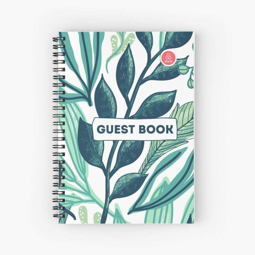 Airbnb Guest book with Jungle backround Spiral Notebook