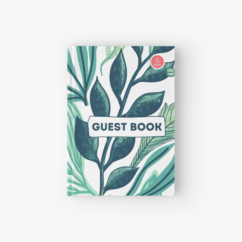Airbnb Guest book with Jungle backround Hardcover Journal