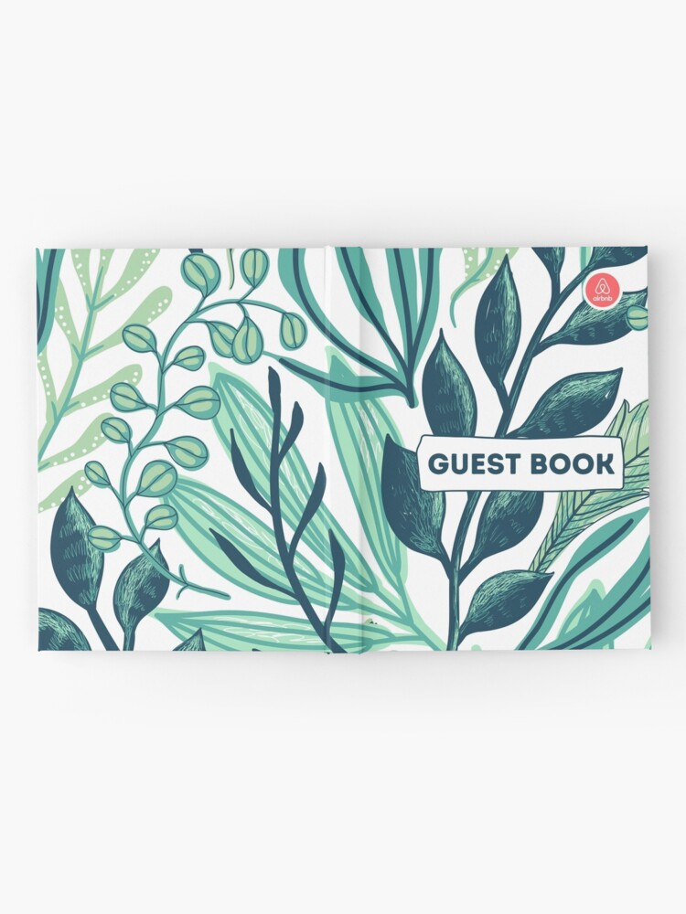 Alternate view of Airbnb Guest book with Jungle backround Hardcover Journal