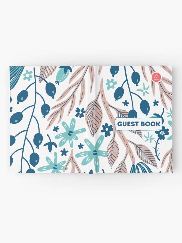 Alternate view of Airbnb Guest book with Olive Flora Hardcover Journal