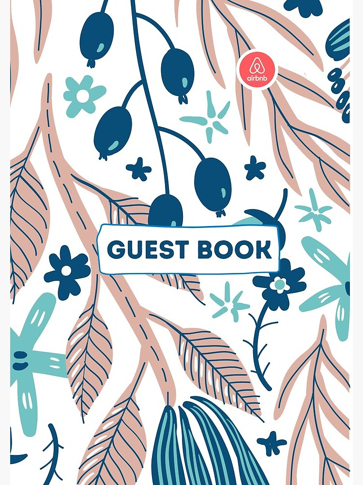 Airbnb Guest book with Olive Flora by IronMark19