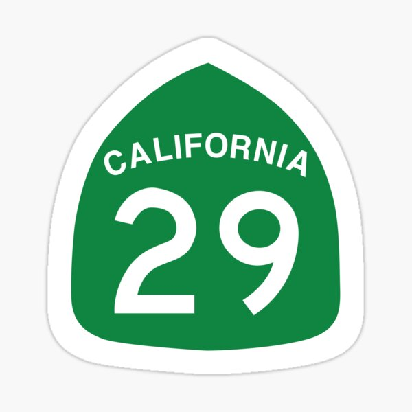 Highway 29 Sign in the Napa Valley Sticker