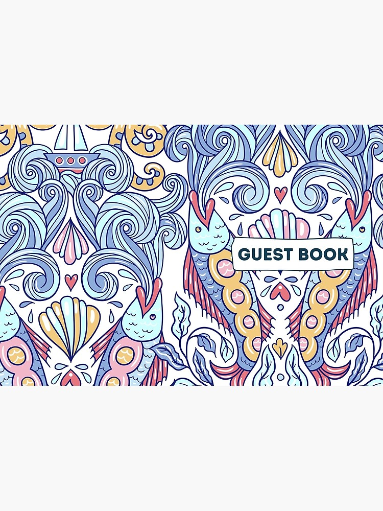 Vacation Rental Guest book with Sea Creature Illustration by IronMark19