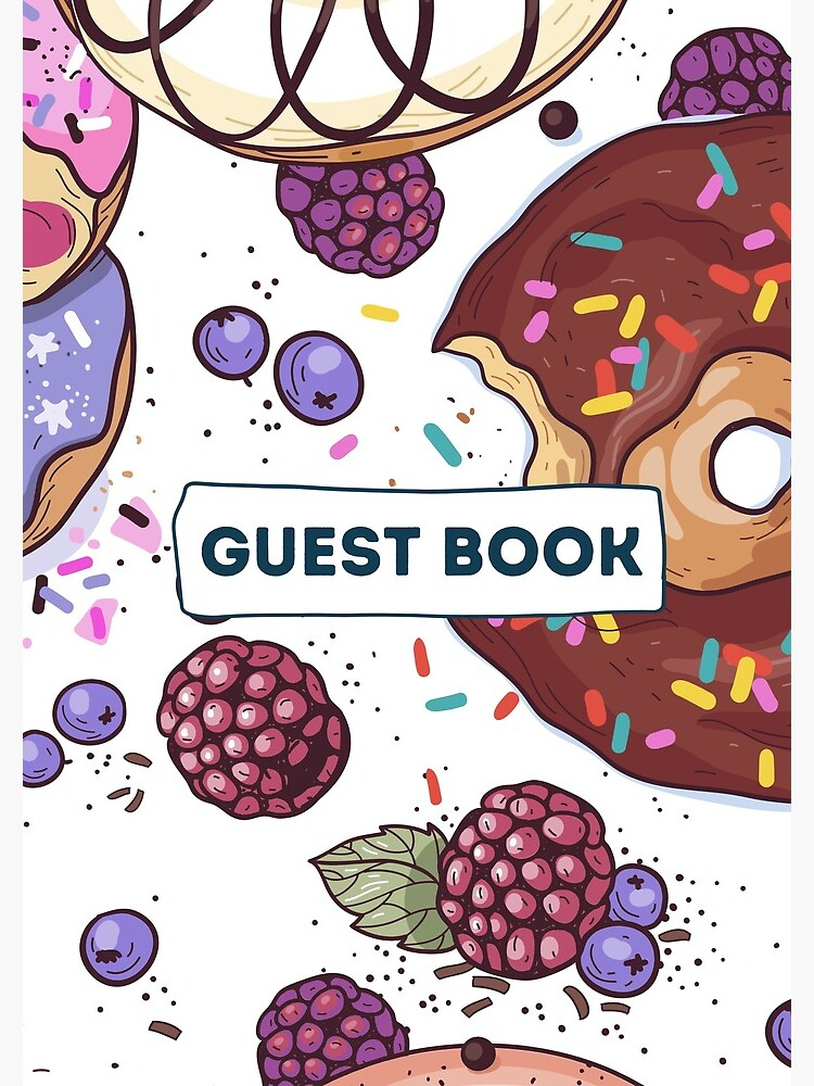Vacation Rental Guest book with Donut Illustration by IronMark19