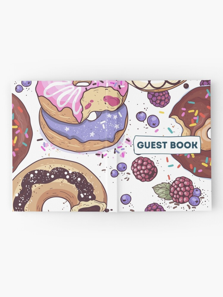 Alternate view of Vacation Rental Guest book with Donut Illustration Hardcover Journal