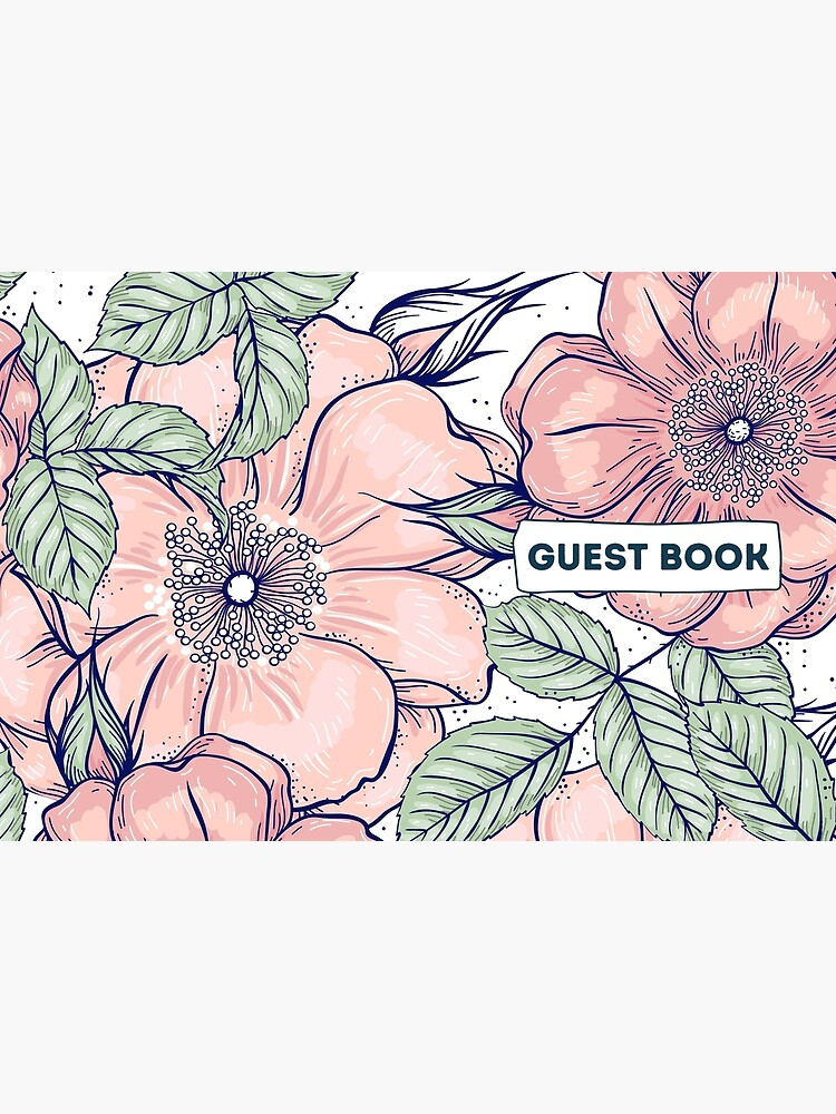 Vacation Rental Guest book with Floral Illustration by IronMark19
