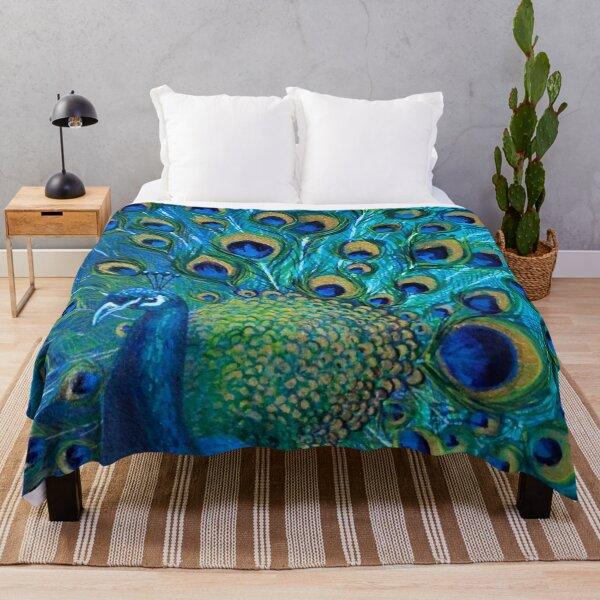 Peacock Full Glory 2 Throw Blanket