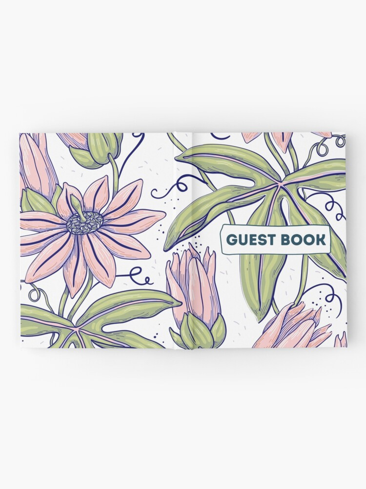 Alternate view of Vacation Rental Guest book with Floral Illustration Hardcover Journal