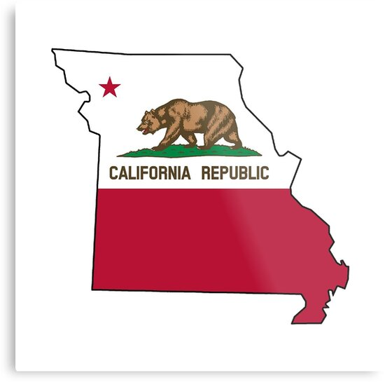 California Flag Missouri Outline By Artisticattitud