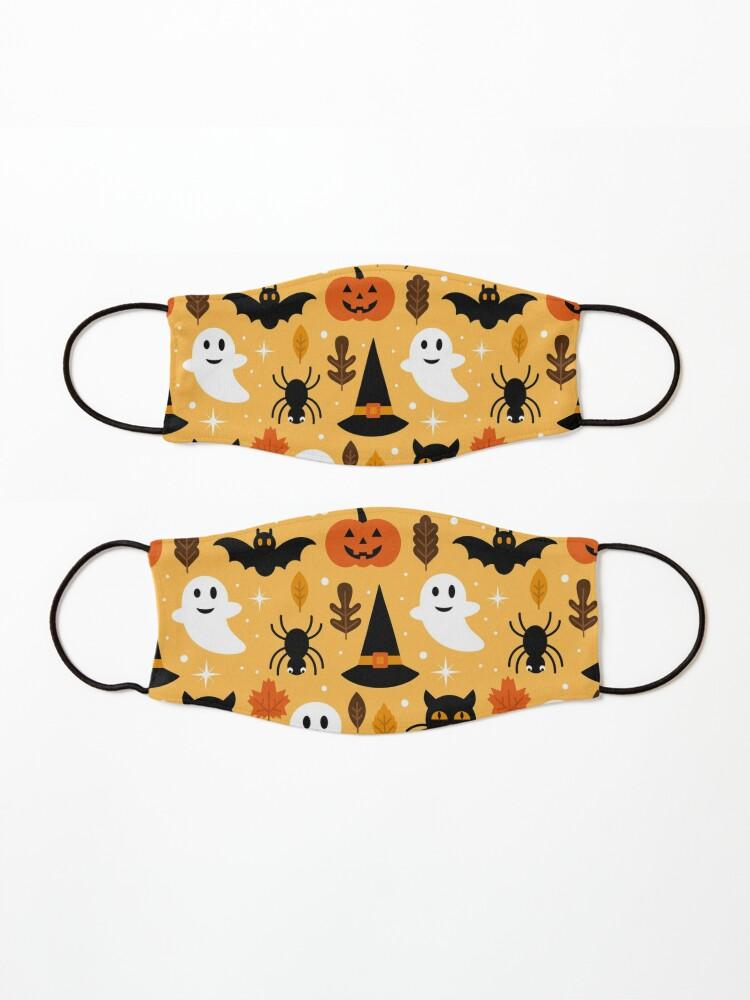 Alternate view of Boo Cats Halloween Night Pattern Art Mask