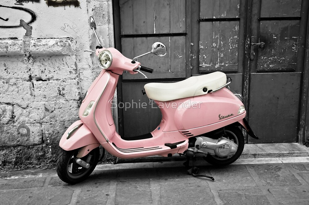 Pink Scooter by Sophie Lavender