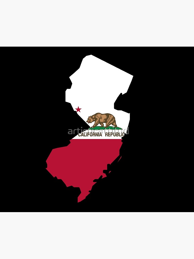 California flag New Jersey outline by artisticattitud