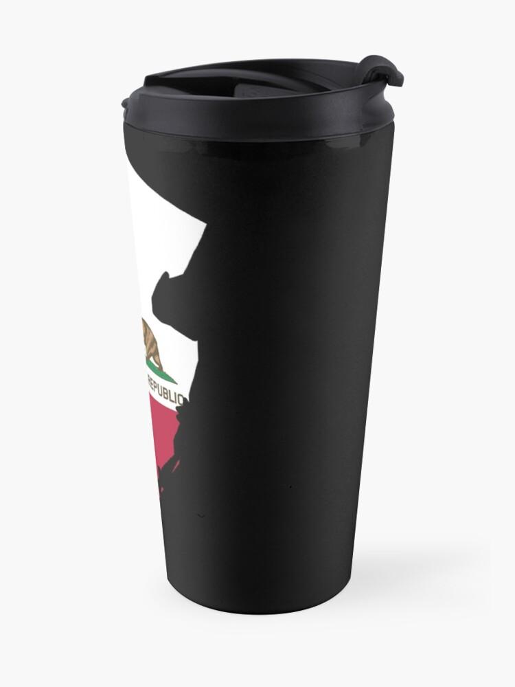 Alternate view of California flag New Jersey outline Travel Mug