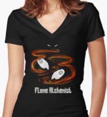 Flame Alchemist Women's Fitted V-Neck T-Shirt