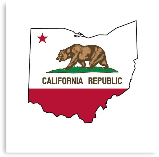 California Flag Ohio Outline By Artisticattitud