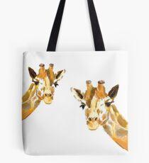 The Giraffe Couple Tote Bag